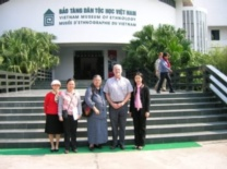 Peter and Maritza Macdonald with the staff from the Hanoi Museum of Ethnography
